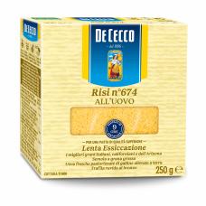 Makaronai DE CECCO Risi n674 All'Uovo