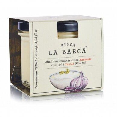 Aioli su rūkytu alyvuogių aliejumi FINCA LA BARCA, 120 ml