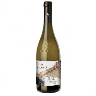 Baltasis vynas Nicosia Falde Insolia Viogner Carricante Terre Siciliane IGT, 750 ml