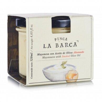 Majonezas su rūkytu alyvuogių aliejumi FINCA LA BARCA, 120 ml