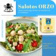 Orzo salotos su šukutėmis, krevetėmis arba mažaisiais aštuonkojais