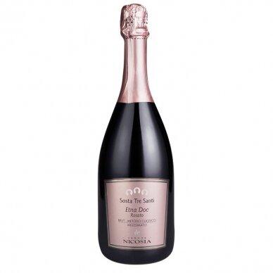 Rausvasis putojantis vynas Tenute Nicosia Sosta Tre Santi Etna Rosato Brut Spumante DOC, 750 ml